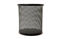 Black empty rubbish bin Royalty Free Stock Photo