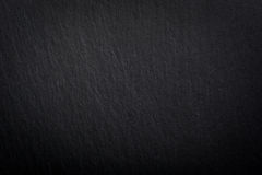 Black empty slate plate Royalty Free Stock Images