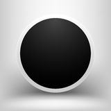 Black empty sphere with shadow Royalty Free Stock Photos