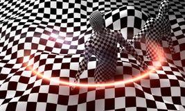 Black end White checkered man Stock Photos