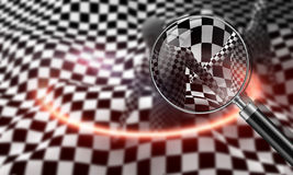 Black end White checkered man Stock Images