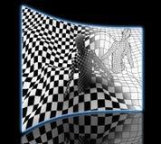 Black end White checkered man Royalty Free Stock Photos
