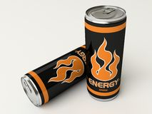 Black energy. Two black energy drink cans Stock Photo