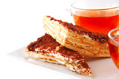 Black english tea and cakes Stock Photo