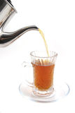 Black english tea flow Stock Images