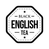 Black English tea vintage stamp Stock Photos