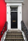 Black doorway Stock Photo