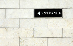 Black entrance sign Royalty Free Stock Images