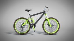 Black 29er mountain bike on grey background. Black 29er mountain bike on grey Royalty Free Stock Images
