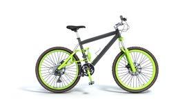 Black 29er mountain bike isolated on white background. Black 29er mountain bike isolated on white Stock Photos