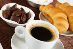 Black espresso coffee Stock Image
