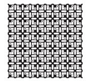 Black-ethnic-modern-geometric-seamless-pattern-ornamen Royalty Free Stock Photo
