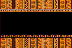Black ethnic patterns Royalty Free Stock Photos