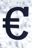 Black euro Royalty Free Stock Photography