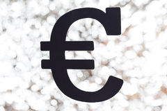 Black euro sign Royalty Free Stock Photos