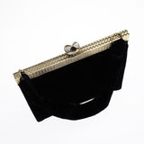 Black evening bag Royalty Free Stock Image