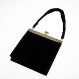 Black evening bag Royalty Free Stock Photography