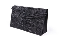 Black evening clutch Stock Photography