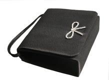 Black evening ladies' handbag. Little Black evening ladies' handbag Royalty Free Stock Photo
