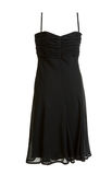 Black evening satin gown stock photography