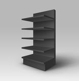 Black Exhibition Trade Stand Rack with Shelves Royalty Free Stock Photos