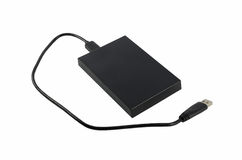 Black external hard disk Stock Photos
