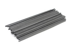 Black extruded graphite rods o Stock Photos