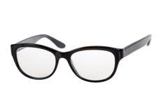 Black Eye Glasses. Isolated on White stock photos
