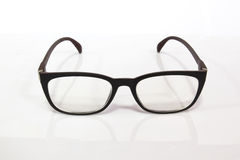 Black Eye Glasses Isolated on White. Royalty Free Stock Photography
