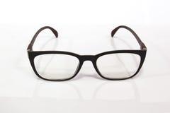 Black Eye Glasses Isolated on White. Black Eye Glasses Isolated on White royalty free stock photography