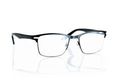Black eye glasses isolated. On white background stock image