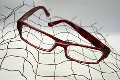 Black eye glasses isolated on White. Background Stock Image