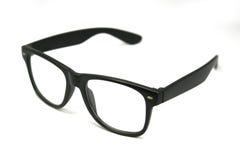 Black eye glasses isolated Stock Photography
