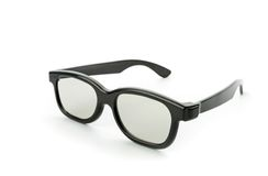 Black eye glasses isolated on white Stock Photography