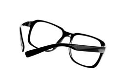 Black Eye Glasses. Isolated black glasses is on white background stock photography