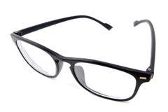 Black eye glasses isolated on white Royalty Free Stock Photo
