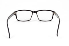 Black Eye Glasses look a bit nerd style Isolated on White Stock Photo