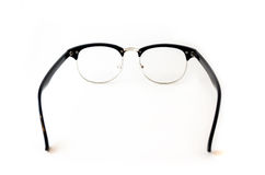 Black Eye glasses retro hipster look isolated on white backgroun. D Royalty Free Stock Photos