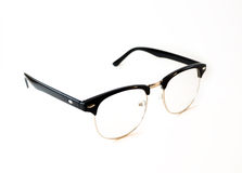 Black Eye glasses retro hipster look isolated on white backgroun. D Stock Images