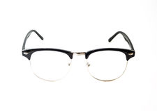 Black Eye glasses retro hipster look. Isolated on white background Stock Images