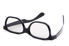 Black eye-glasses with tinted lenses Stock Images