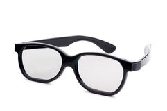 Black eye-glasses on a white background Royalty Free Stock Photography
