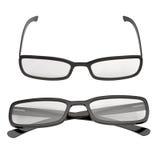Black Eye Glasses  on White 3D Illustration Royalty Free Stock Photography