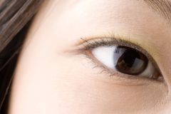 Black eye of Japanese Royalty Free Stock Photos