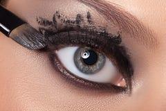 Black eye makeup. stock photo