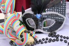 Black eye mask Stock Photo