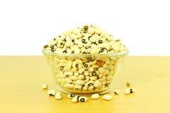 Black eye peas beans in bowl closeup Royalty Free Stock Images