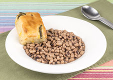 Black eye peas. A bowl of southern style black eye peas royalty free stock images