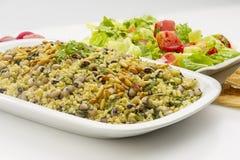 Black Eye Peas with Chard , Lebanese food of Loubieh Msallat wi Stock Photography
