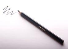 Black eye pencil white drawn line Stock Photography